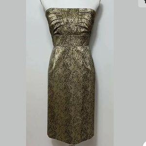 Antonio Melani Gold Cocktail Dress Size 12